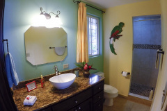 Fully equipped Master Bathroom of CRICO SUITE has everything you need, and a hot water shower to relax!